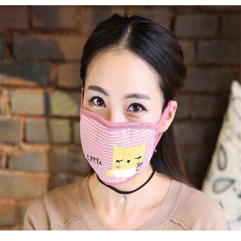 10 Teile/beutel Winter Neue Warme Mode Masken Neue Staub Nebligen Warme Verdickung Atem Schutz Nette Mode Masken Großhandel T086 Masken