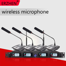Professional Microphone System 8000GT UHF Channel Professional Dynamic Microphone 4 Conference Microphone Gooseneck Microphone pro 4 handheld 4 tabletop gooseneck wireless digital conference microphone system uhf adjustable frequency 400 channel