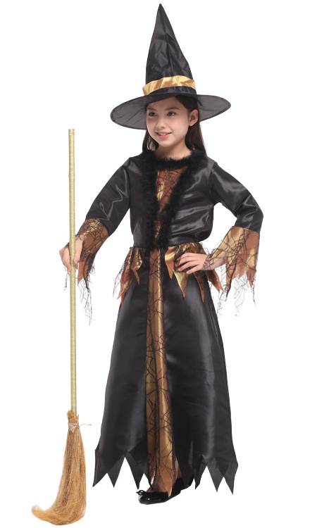 shanghai story witch costume fancy children halloween black witch costume girls cosplay christmas halloween fancy dresses - Witch Halloween Costumes For Girls