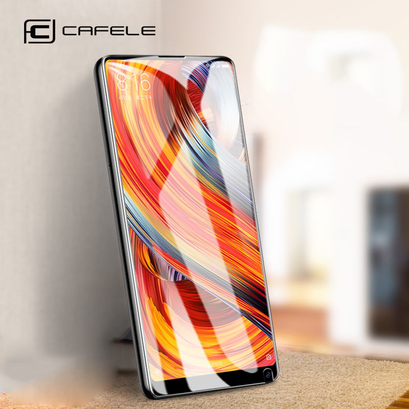 Galleria fotografica CAFELE Glass For Xiaomi Mi MIX 2 2S mix2 Screen Protector HD Clear Tempered Glass for Xiao mi mix2s mix 2 s 9H Protective Film