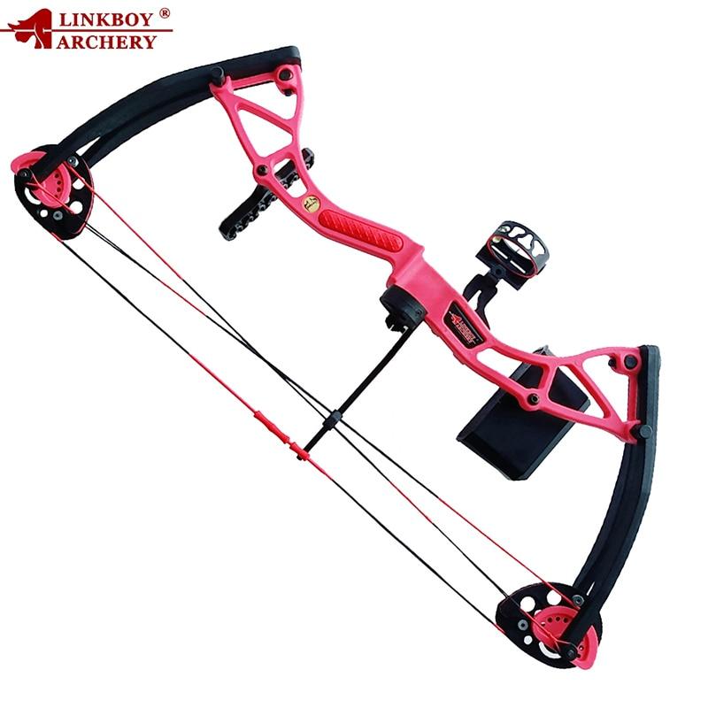 Здесь можно купить  Toy Gift Linkboy Archery 4 Color 10-20 Lbs Children Compound Bow Draw Length 17-26inches for Children Archery Arrows Shooting  Спорт и развлечения