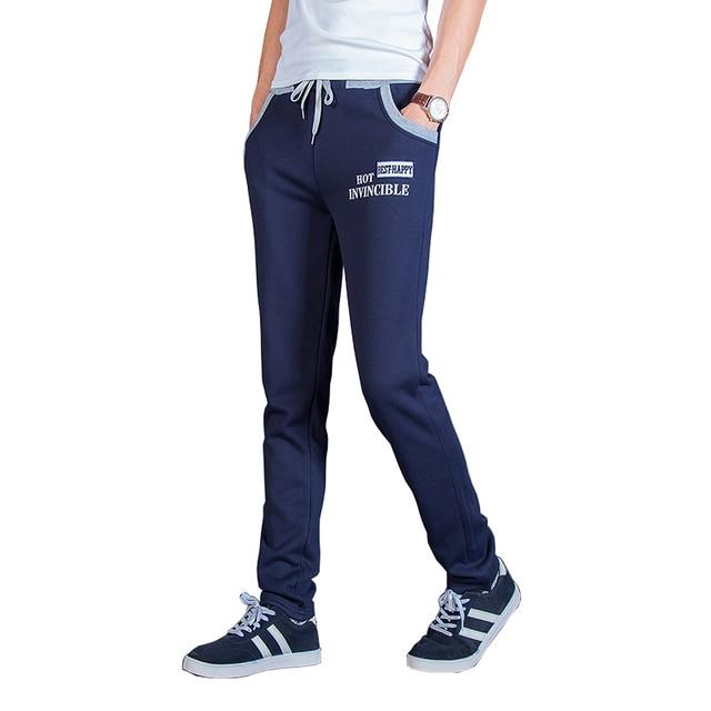2016 Nueva Marca de Moda Para Hombre Pantalones Casuales de La Moda Carta Bordado Pantalones Deportivos Pantalones Pantalon Homme Delgado Ocio Pantalones M-5XL