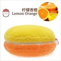 Lemon Orange French Macarons Round Cakes Creative Pillow Cushion Gift for Birthday/Festival/Anniversary