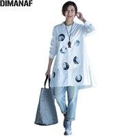 DIMANAF Plus Size Autumn Blouse Women O Neck Polka Dot Female Casual 2017 Linen Fashion Basic