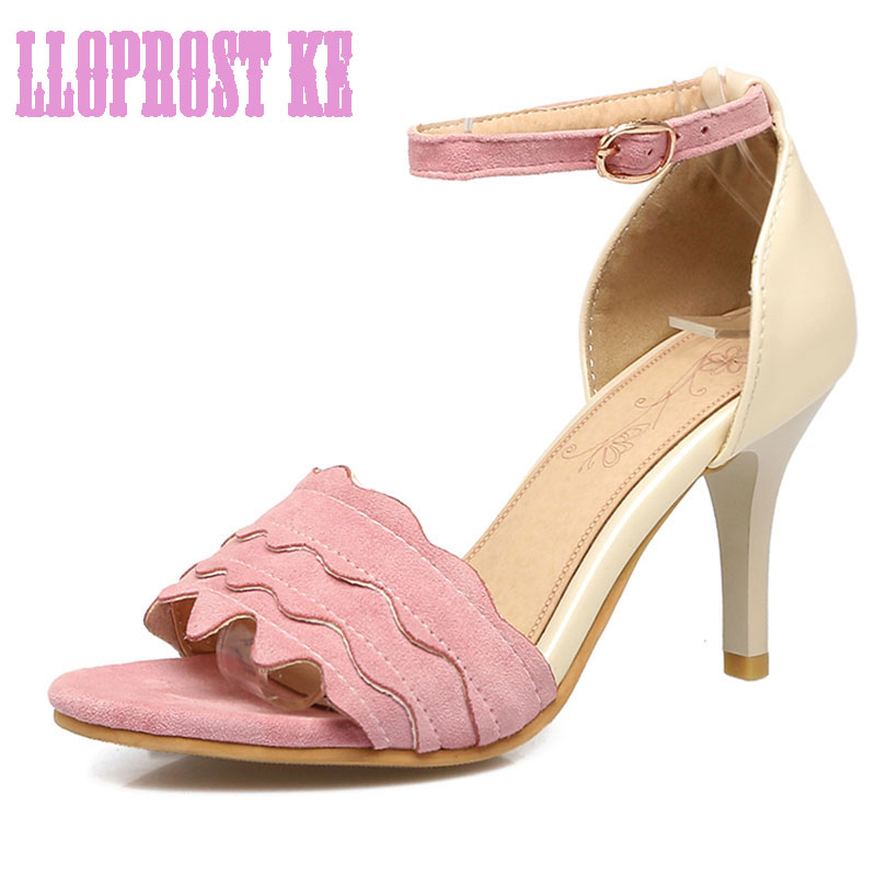 Compare Prices on Pink Ruffle High Heel Sandals- Online Shopping ...