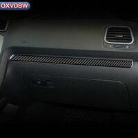 For volkswagen scirocco R LHD RHD Accessories 2009 2016 Carbon Fiber Interior Car Dashboard Decoration Strip Car Styling Sticker