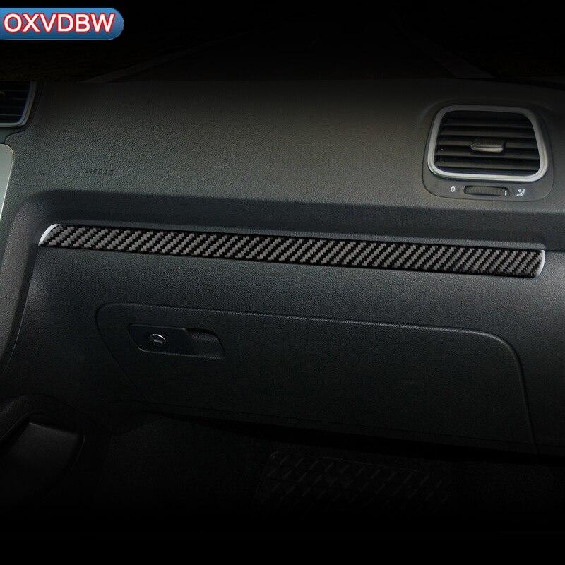 Pour volkswagen scirocco R LHD RHD accessoires 2009-2016 fibre de carbone intérieur voiture tableau de bord décoration bande voiture-style autocollant