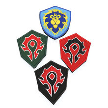 World Of Warcraft Alliance / Horde Forces Camp - Side Embroidery Armband Badge Morale Tactics Union 7 * 8.5cm, Tribal 6.5 * 9c(China)