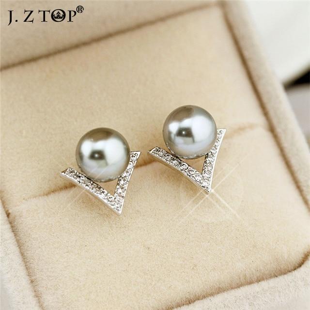 Geometric Stud Earrings Black Rhinestones nickel free sRrlcyJ8O