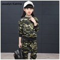 Jocelyn Katrina 2017 New Camouflage Kids Clothing Set Girls Spring&Autumn Cotton Camo Boys Sports Set Active Girls Clothing Sets