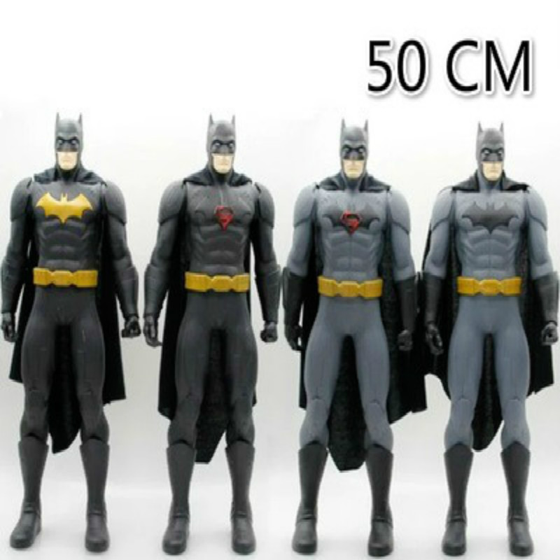 50cm Batman Wars Superhero Dark Knight Large Batman Model PVC Action Figure 4 Style Toys Kids Gifts batman 66 volume 4