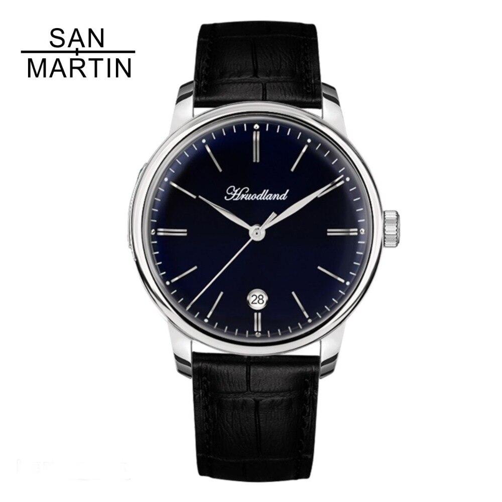 San Martin Hommes Automatique Montre 50 mètre Résistance À L'eau Casual Sapphire Relojes Hombre 2018 en acier Inoxydable Rétro Montre-Bracelet