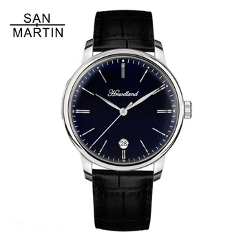 San Martin Men Automatic Watch 50 Meter Water Resistance Casual Sapphire Relojes Hombre 2018 Stainless steel Retro Wristwatch    機械 式 腕時計 スケルトン