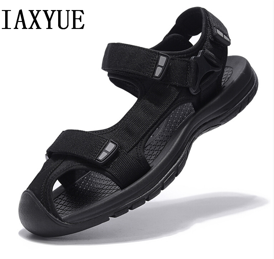 Baotou men's sandals 2018 new outdoor summer soft bottom anti-slip sports casual Daddy beach shoes tide Large size 36 - 46 yard 1