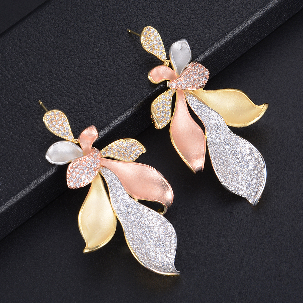 GODKI Luxury Cubic Zircon Indian Wedding Bridal Nigerian Earrings For Women Dangle Drop pendientes mujer moda 2019 bijoux femme