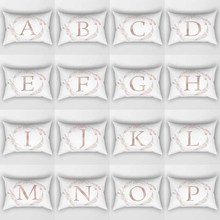 Different letters pattern men women rectangle  pillow case home cover