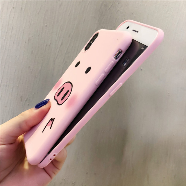 Cute Cartoon Pig Phone Case For iPhone 4