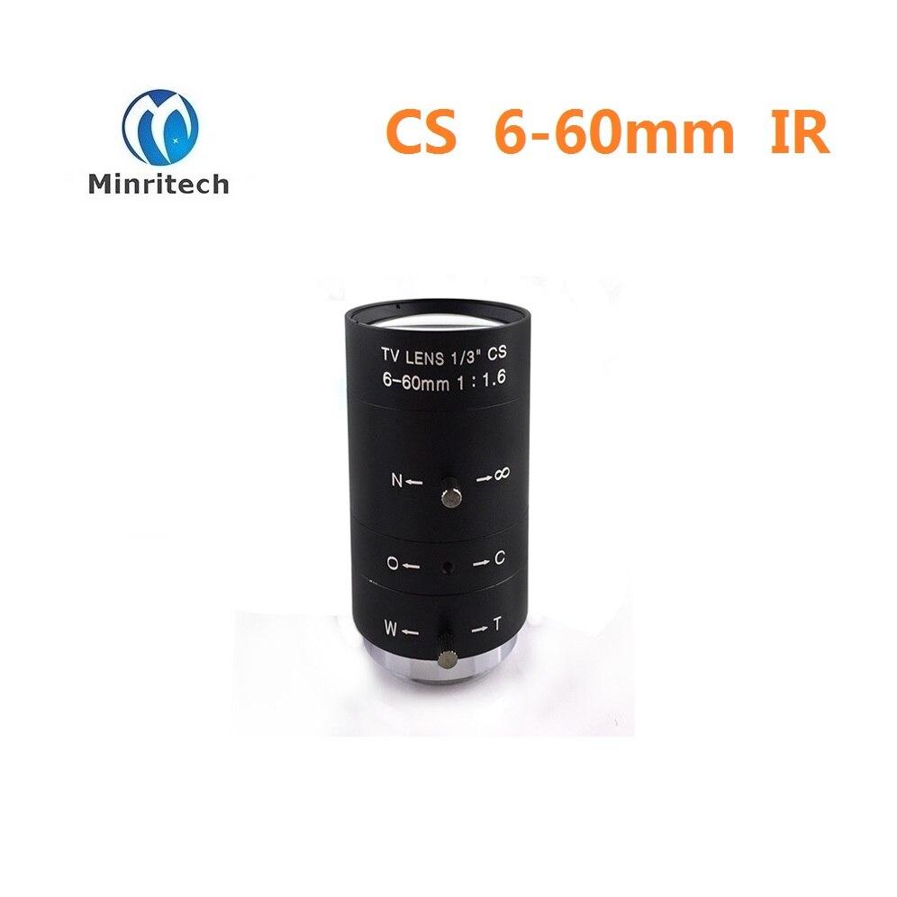 high mega pixel china manufacturer  manual Iris cctv lens vari focal CS 6-60mm IR camera Lens high quality 20 chau gong from china manufacturer arborea