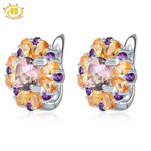 Hutang Ametrine Hoop Earrings