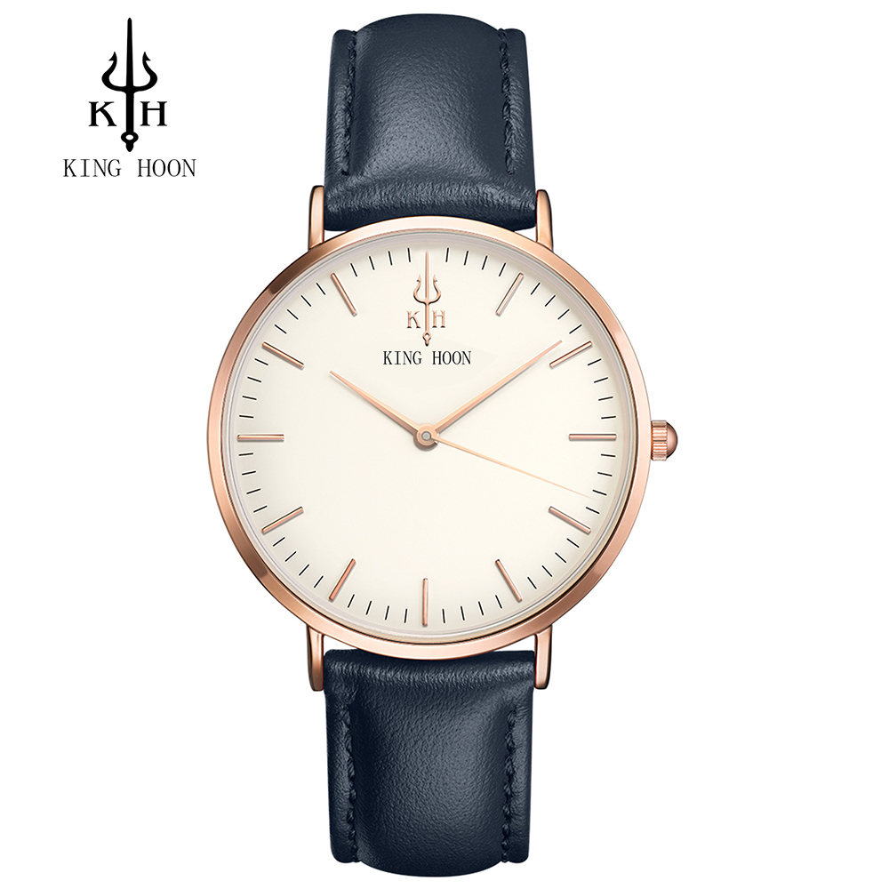 KING HOON 2017 Fashion Quartz Watch Men Watches Top Brand Luxury Male Clock Business Mens Wrist Watch Hodinky Relogio Masculino mens watch top luxury brand fashion hollow clock male casual sport wristwatch men pirate skull style quartz watch reloj homber