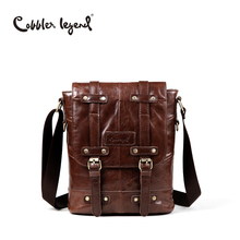 цена на Cobbler Legend Brand Designer Real Cowhide Leather Men's Crossbody Shoulder Messenger Bag For Man Business Travel Bags #701132-1