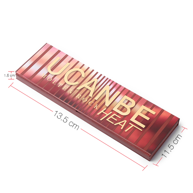UCANBE Marque Vente Chaude En Fusion Rock Chaleur Ombre À Paupières Maquillage Palette Nude Shimmer Mat de Fard À Paupières Smoky Rouge Brun Citrouille Cosmétiques 5
