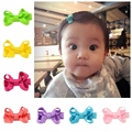 20pcs/lot  Baby Hair Accessories Girls Hair Clips  Small Ribbon Bow Hairpins  Barrettes Headwear Boutique Wholesale 615