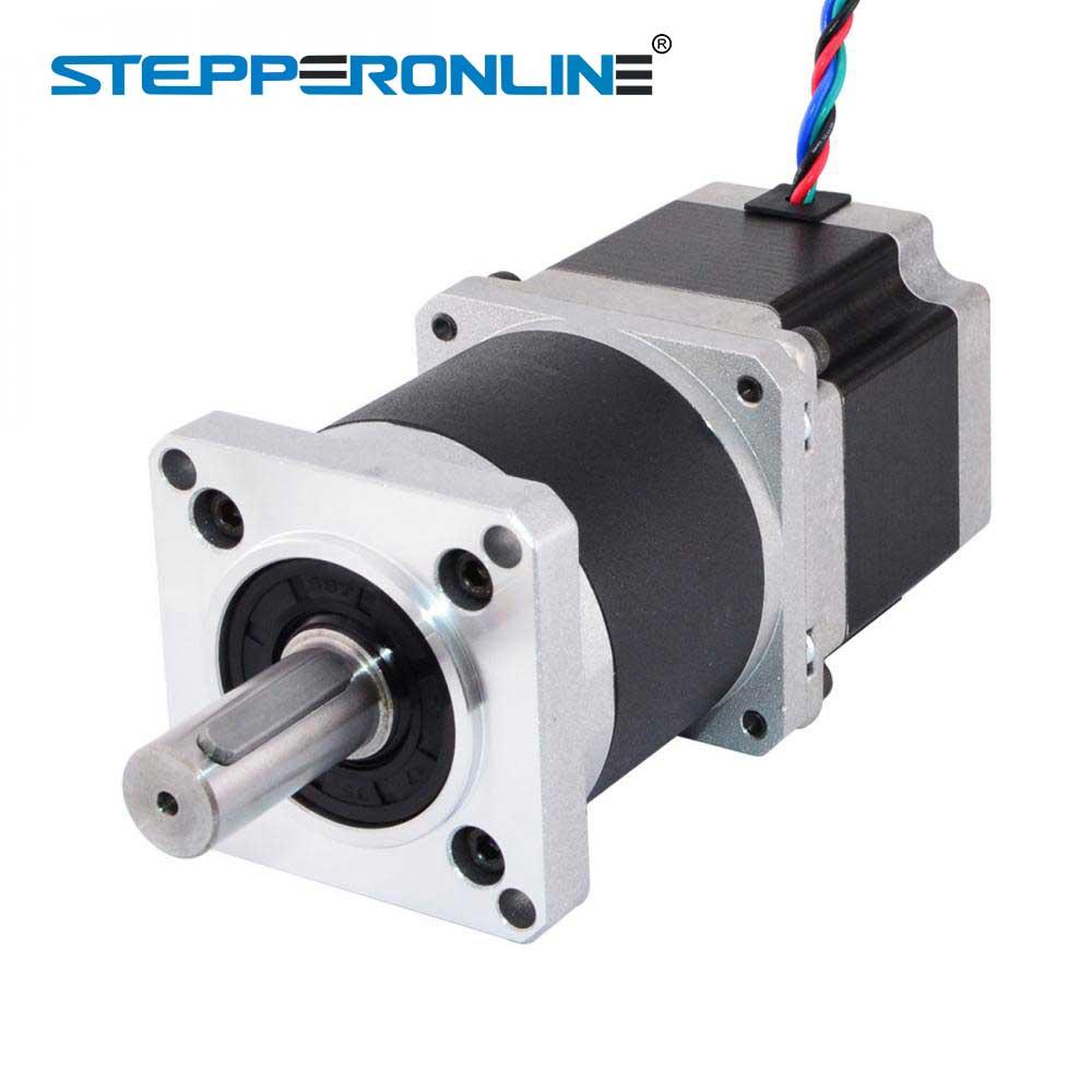 Nema Stepper Motor 23 L = 50 56 milímetros Relação Da Engrenagem: 1 4-chumbo 2.8A Extrusora Engrenagem de alta Precisão Planetário Caixa de Velocidades Do Motor