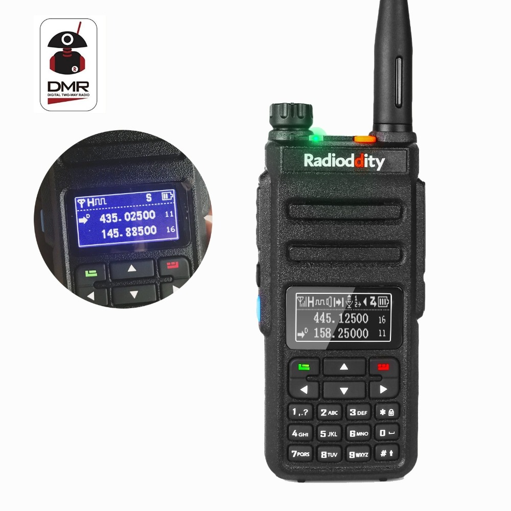 Radioddity GD-77BB Dual Band Dual Time Slot DMR Numérique Radios Inversé Affichage HamTwo Way Radio Talkie Walkie