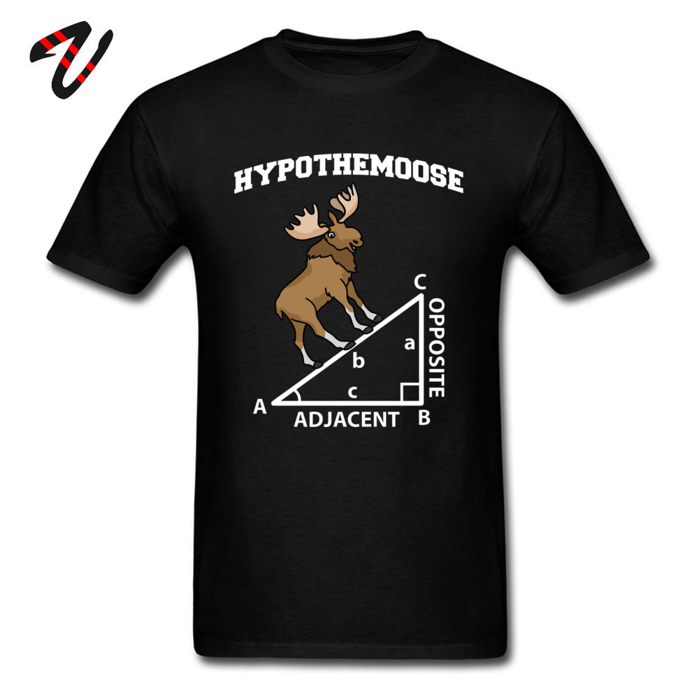 Pythagoras HYPOTHEMOOSE Math Mathematics Adjacent Printed Tshirts Mens Geometric Triangle Summer Classic Elk Deer T Shirt