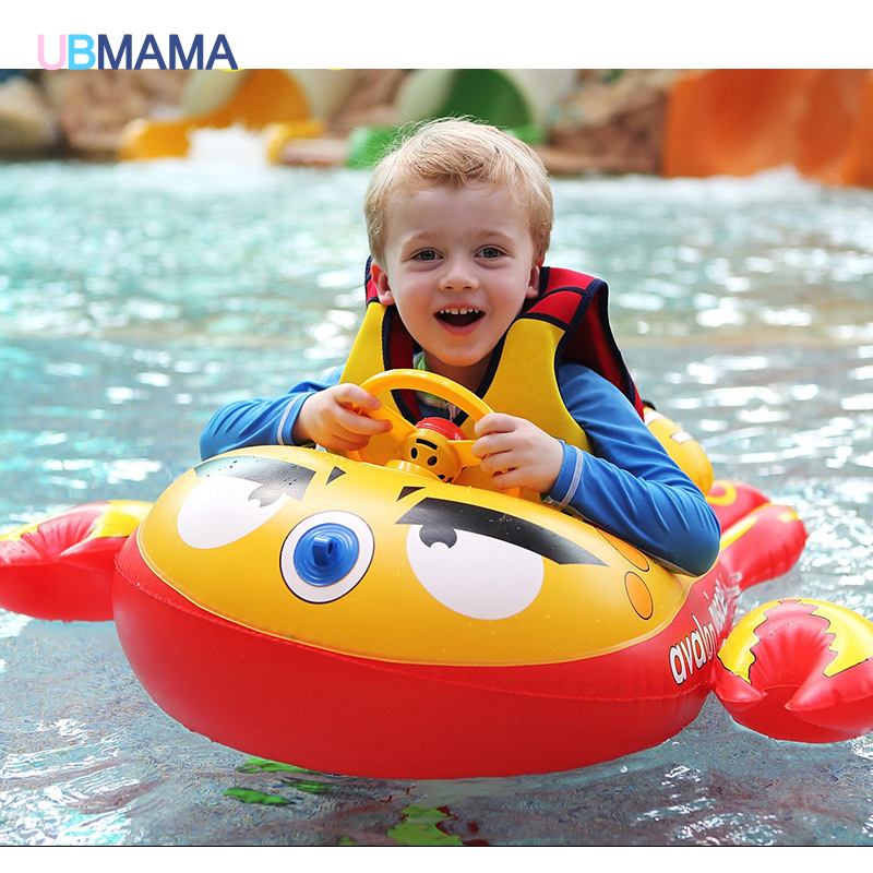 2016 Safety Baby Infant Swimming Float Inflatable Adjustable Sunshade Seat Boat Ring Swim Pool