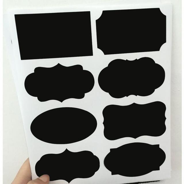 40Pcs/Set Black Handwritten Label Sticker Blackboard Sticker Craft Kitchen Jar Organizer Labels Chalkboard Chalk Board Stickers