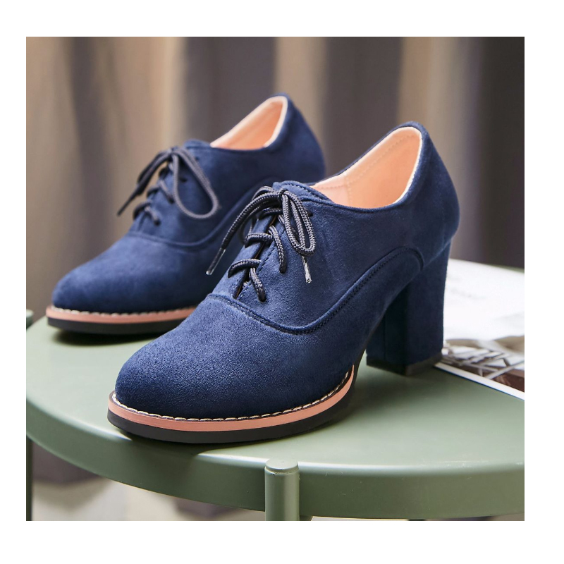 Women Boots Plus Size High Heel Ankle boots Winter Warm Boots Blue Red Black Lace Up BootsWomen Boots Plus Size High Heel Ankle boots Winter Warm Boots Blue Red Black Lace Up Boots