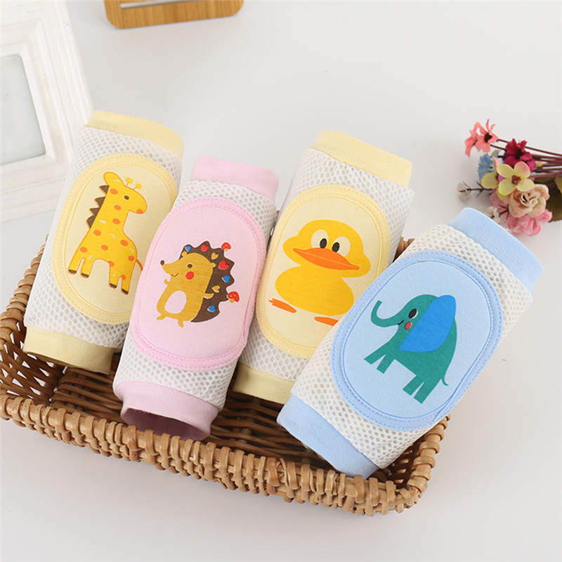 For Girls Boys Leg Warmers Cartoon Baby Knee Pads Anti Slip Mesh Cushion Crawling Protector Cotton Kids Kneecaps Children  0-3Y