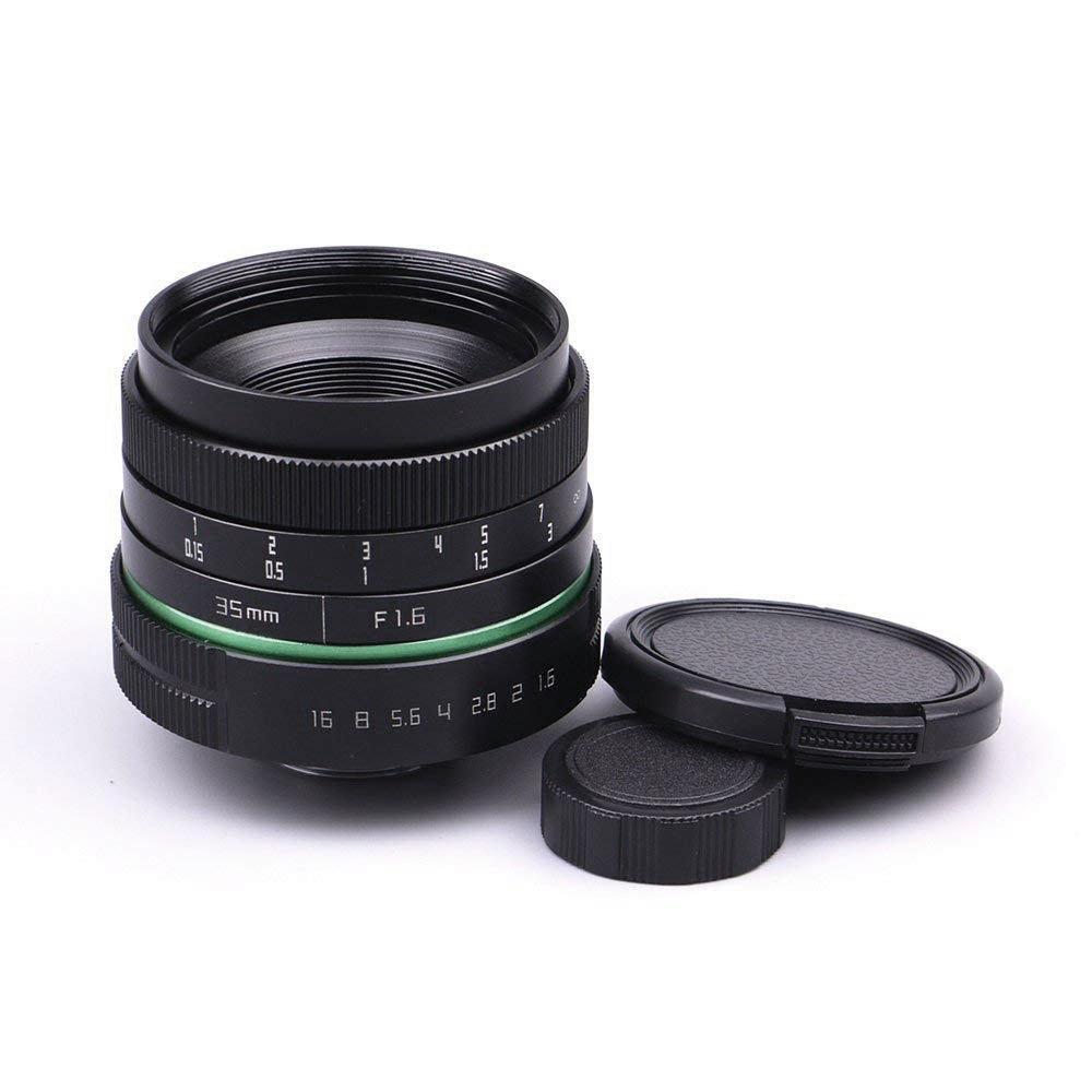 35mm F1.6 C-Mount APS-C Lens CCTV C Mount Lens by manual focus for Canon Nikon Sony Olympus35mm F1.6 C-Mount APS-C Lens CCTV C Mount Lens by manual focus for Canon Nikon Sony Olympus