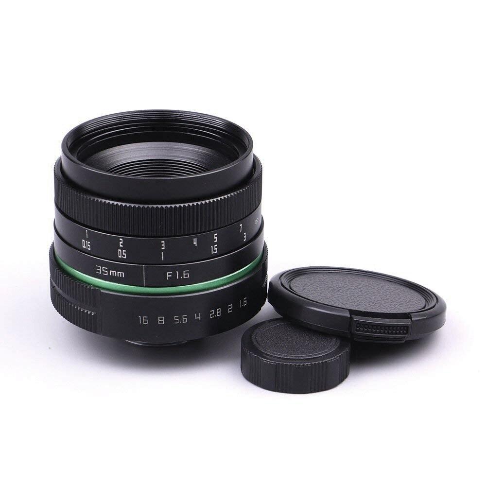 Objectif de APS-C 35mm F1.6 c-mount objectif de montage CCTV C par mise au point manuelle pour Canon Nikon Sony Olympus
