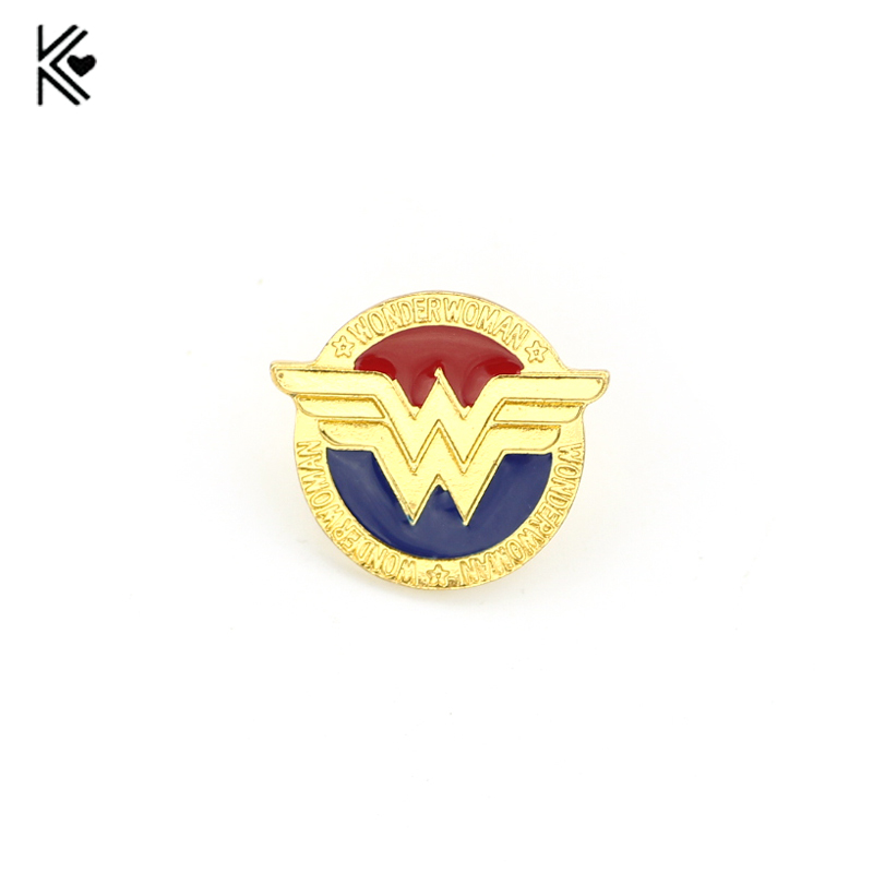 2017 HOT Movie Marvel Super Hero Brooch Wonder Women Round Brooch Pins Button Badges Birthday Present Gift For Women And Men