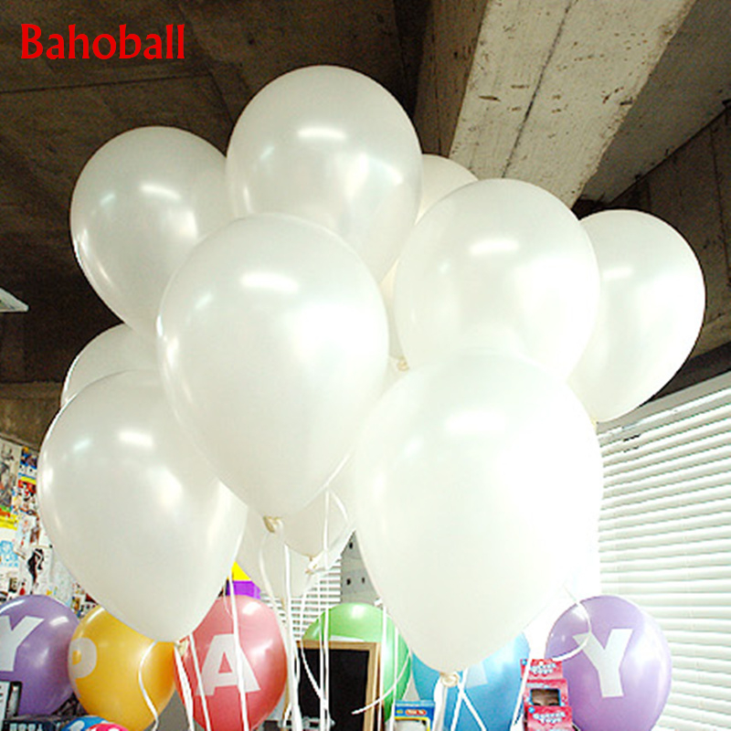 White Balloons 10PCS 10inch Pearl Latex Balloons Wedding Decorations Inflatable Air Ball Children Birthday Party Ballon Supplies(China)