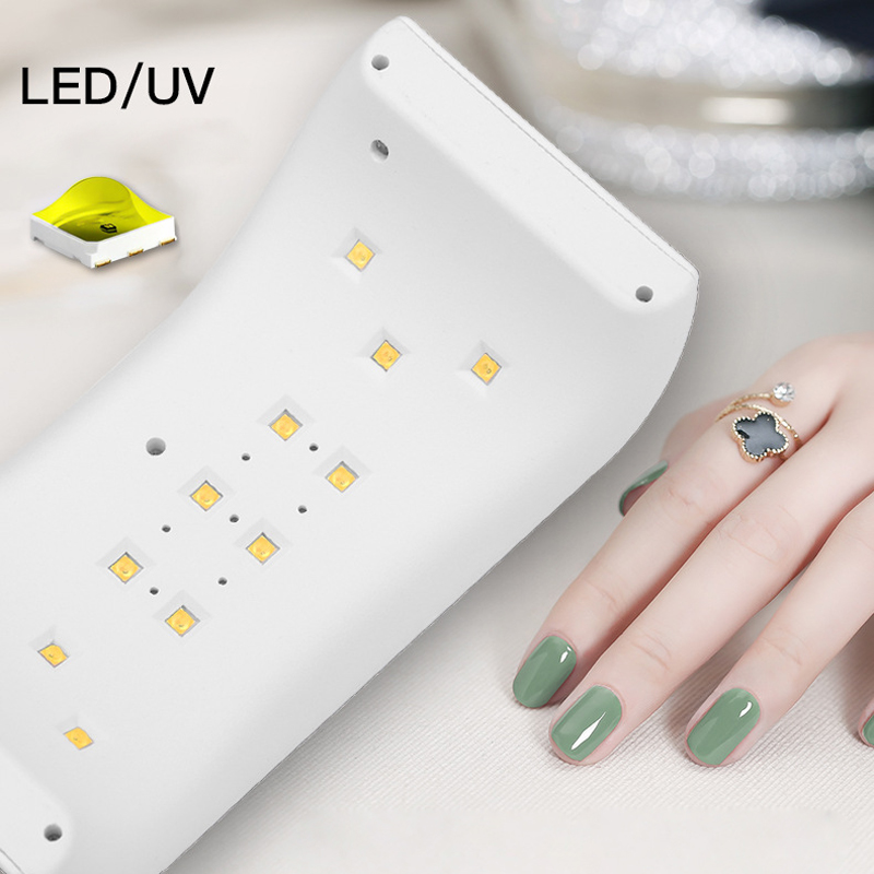 SUN9X 24W UV Lamp LED Lamps Nail dryer Double Power Nail Lamps for Nail UV Gels Polish USB Charge Nail Art Tools For Manicure