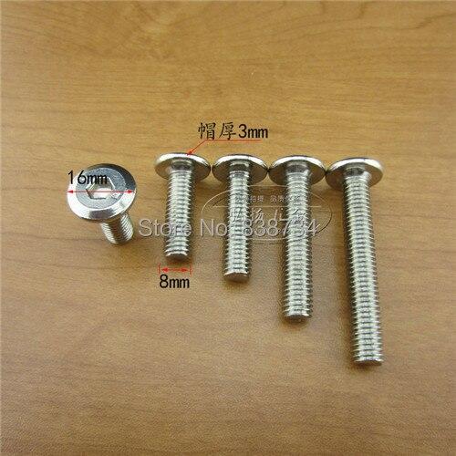 Kitchen Cabinet Connectors: 50pcs M8*20 Steel With Nickel Connector Screw,hex Socket