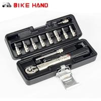 BIKE HAND Bicycle Bike Torque Wrench Allen Key Tool Socket Spanner Set Kit Cycling Repair Tool
