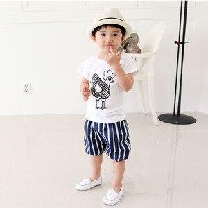 Children Short Sleeve T-Shirts Kids Casual Tees Baby Boy Girl Cartoon Animal Printed Tops Shirts 2-7Y Summer Clothes
