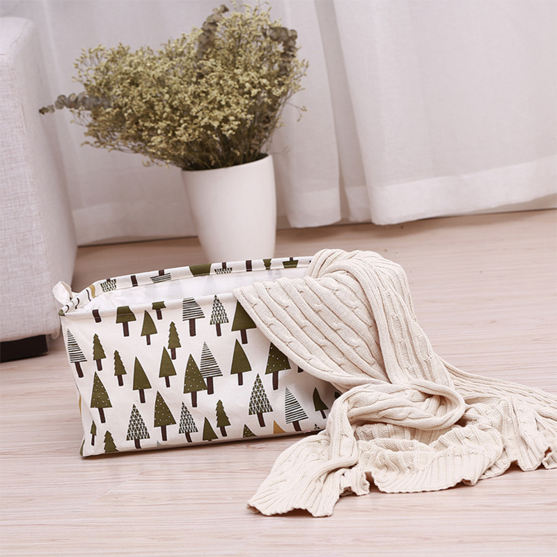 Waterproof Folding Storage Box Drawstring Kids Toy Boxes Bathroom Barrel Sundries Storage Basket Home Clothing Organizer