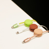 High Quality 1 Set Of Cable Winder Earphone Cable Organizer Wire Storage Silicon Charger Cable Holder
