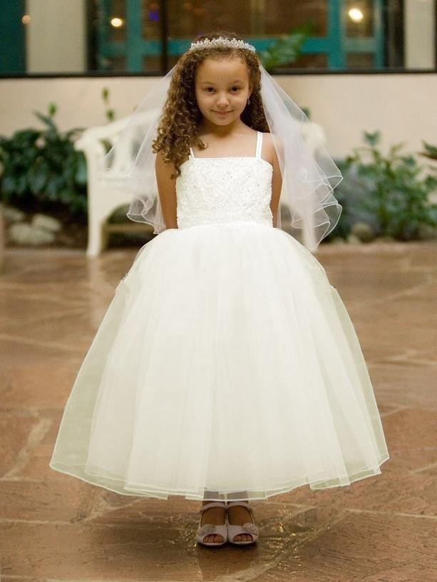 ✅Ball Gown Flower Girls Dresses For Kids Evening Gowns Ankle-Length ...