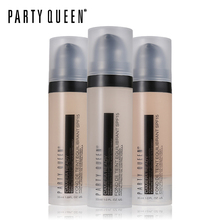 Party Queen SPF15 Oil Control Liquid Face Foundation Moisturizing Makeup Waterproof Long-Wearing Full Coverage Weightless Finish