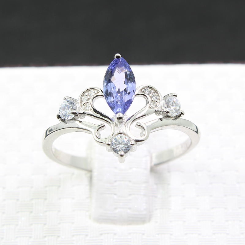 100% իսկական տանզանիզ օղակ աղջկա համար 4 - Նուրբ զարդեր - Լուսանկար 2