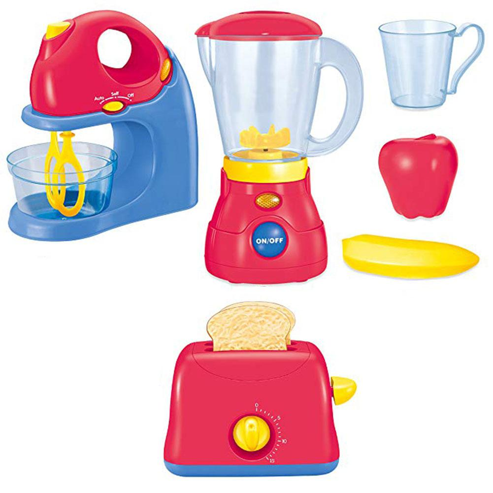 LeadingStar Children Simulation Home Appliance Set Toys Juicer Mixer Bread Machine Kitchen Cooking Tools
