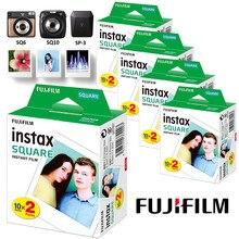 Instax square film white edge photo paper (10-100 peças) para fujifilm sq10 sq6 sq20 filmes instantâneos câmera compartilhar SP-3 impressora