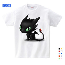 Summer Dragon Black T-shirt Without Teeth Tops Men T Shirt How To Train Your Vintage Cotton Cloth Clothes YUDIE